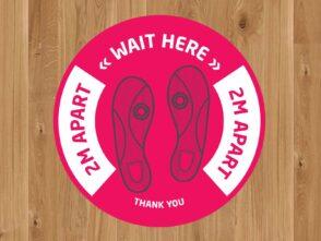 Wait Here - 2m Apart