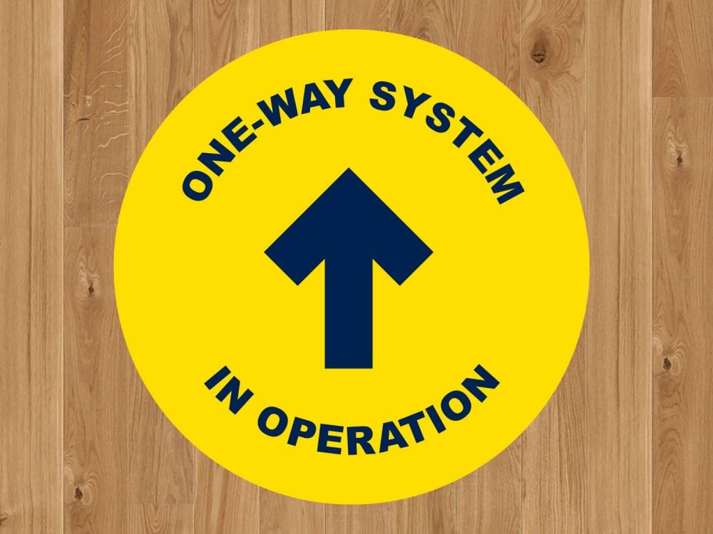 One Way Covid 19 Floor Stickers Banner World