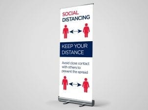 Social Distancing Covid-19 Roller Banner