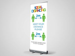 Social Distancing 2 Roller Banner