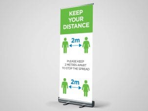 Keep Your Distance Covid-19 Roller Banner