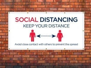 Keep Your Distance Covid Banner