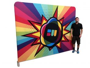 Stretch Fabric Backdrop Stand