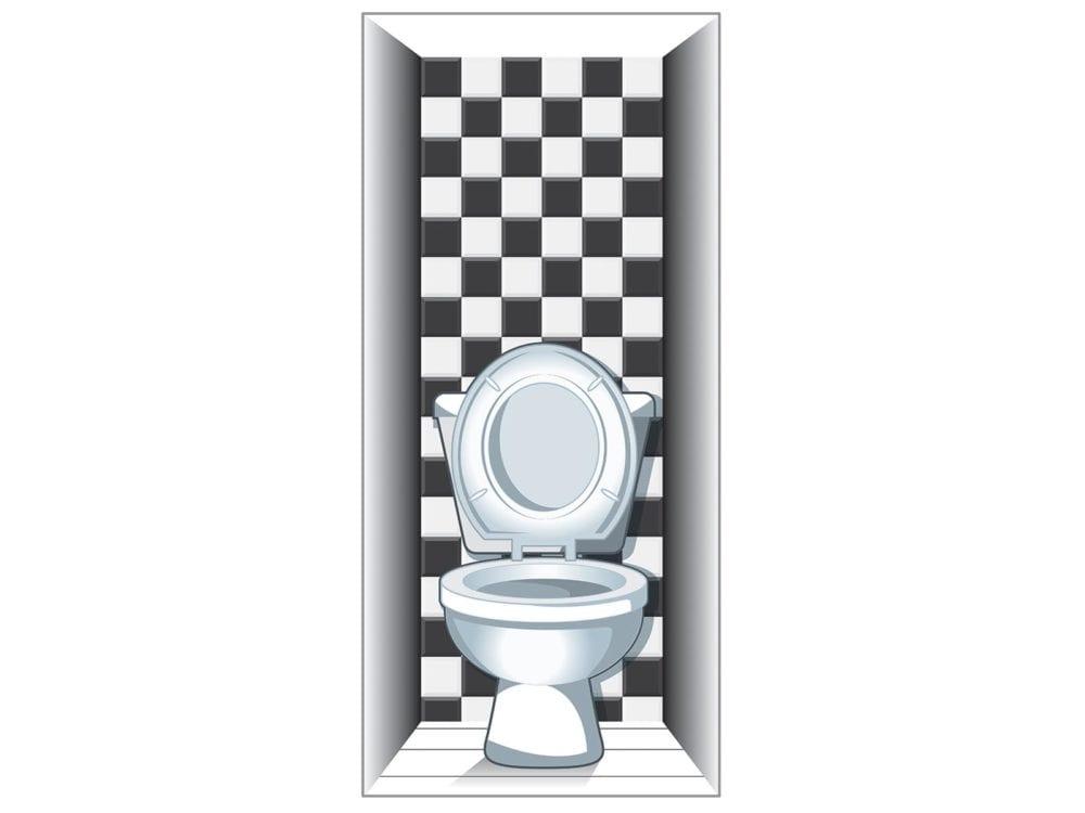 Toilet Door Wrap