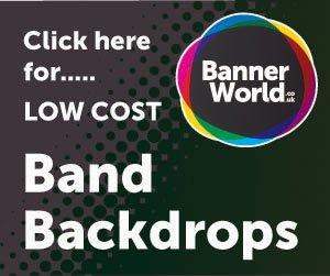 300 x 250 band backdrops