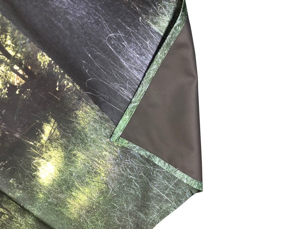 Block out light fabric printing for stage