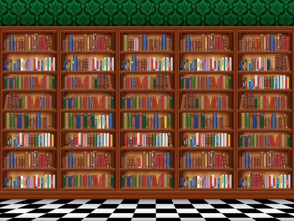 dementia bookcase wallpaper