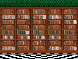 dementia bookcase wallpaper