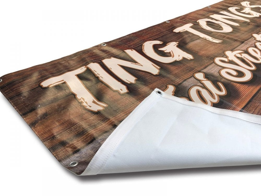 Heavy duty recycable banner printing
