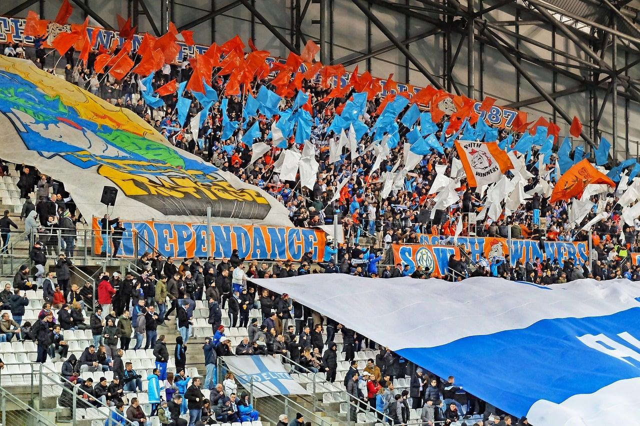 Football Crowd Flags