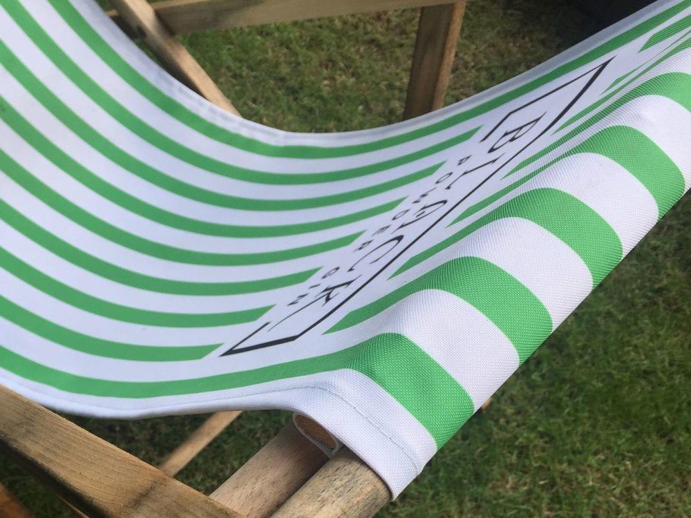 Full colour printed deck chair