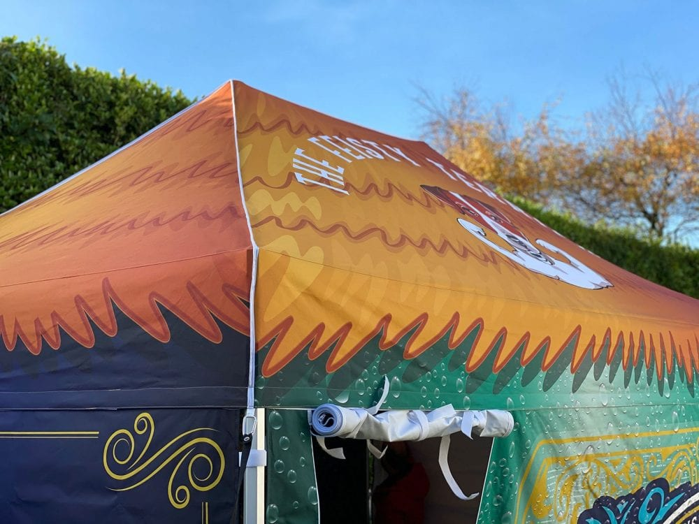 Printed gazebo roof canopy