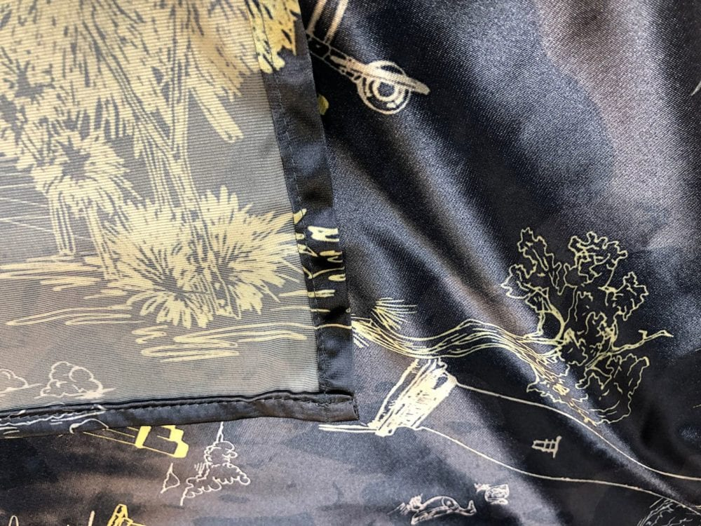 Full colour satin fabric printing