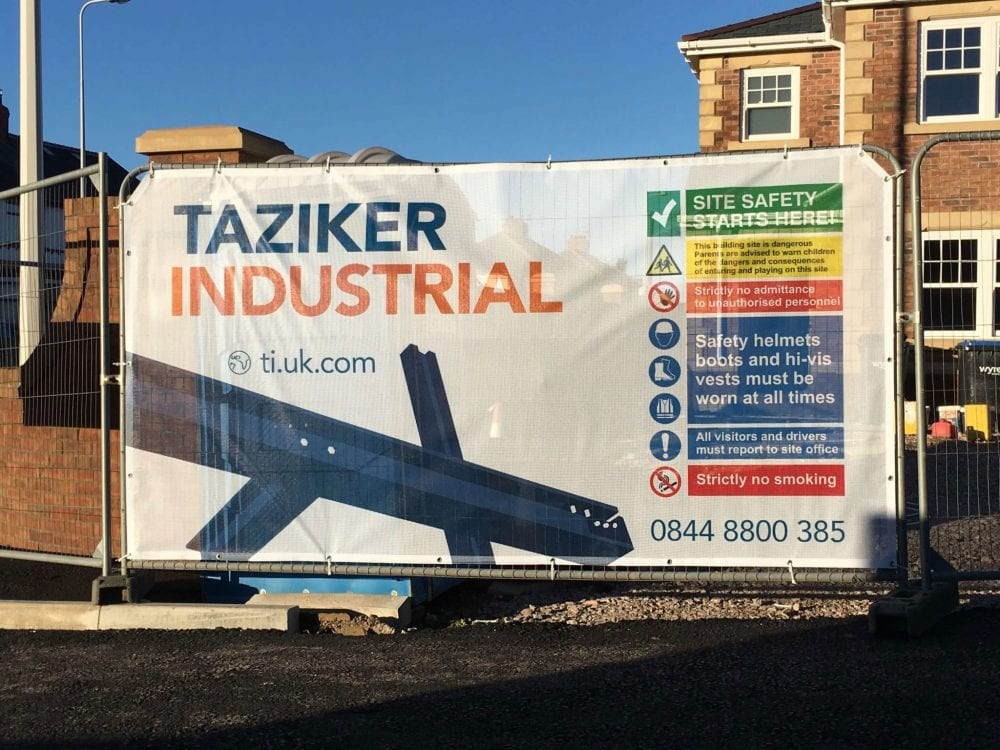 Full colour printed fence cover