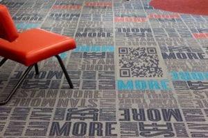 qr code custom printed carpet 06