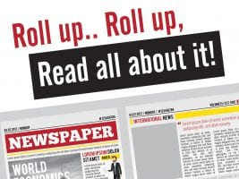 Roll up read all about it